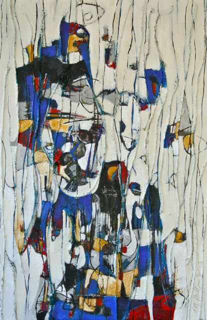 Scarecrow Marionette Abstract Painting by Michelle Miller