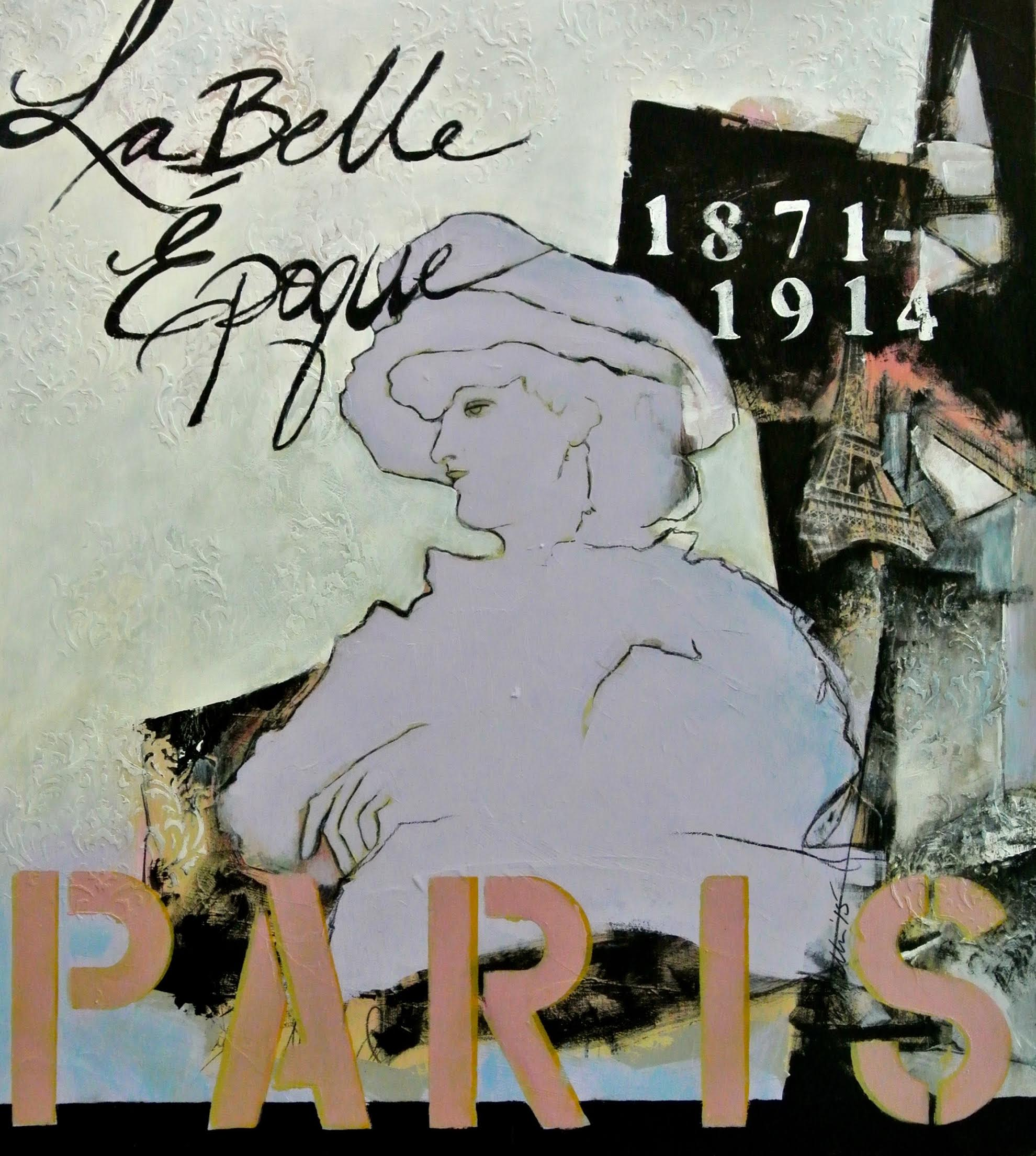 La Belle Epoque French Inspired Painting by Michelle Miller