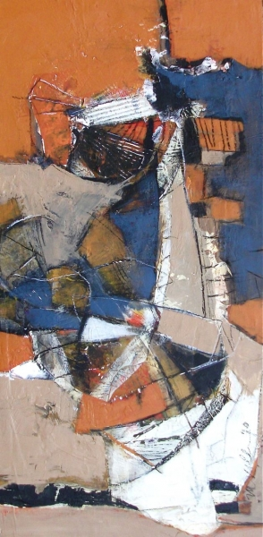 Excavation Abstract Painting by Michelle Miller