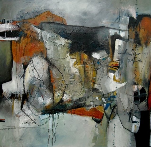 Exegesis Abstract Painting by Michelle Miller